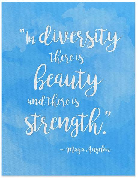 Free high resolution desktop wallpapers for widescreen, high definition, fullscreen. Beauty and Strength in Diversity - Maya Angelou Quote ...