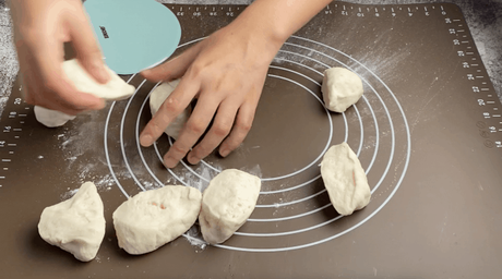 Divide the dough into 8 to 10 pieces