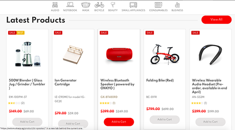 SHARP Launches its First Singapore e-store