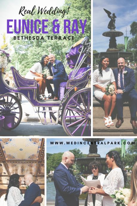 Eunice and Ray's June Wedding Beside Bethesda Fountain