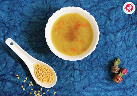Carrot Moongdal Soup for Babies