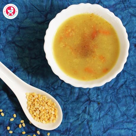 Do include this wholesome and energy rich Carrot Moongdal Soup for Babies regularly in baby's diet to build the immunity and to maintain a healthy gut!