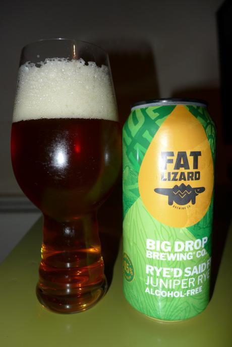 Tasting Notes: Big Drop: Fat Lizard: Rye'd Said Fred: Juniper Rye IPA