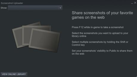 Steam screenshot uploader