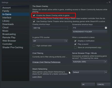 enable overlay- where are steam screenshots saved