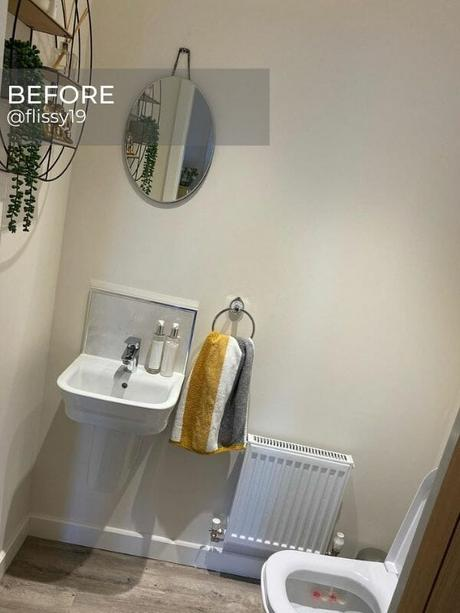 old radiator in a small bathroom