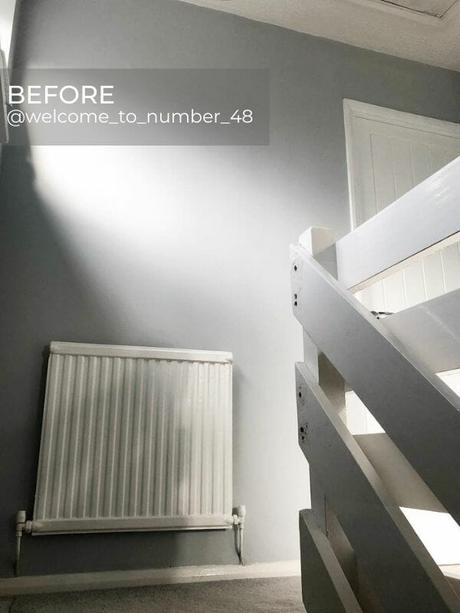 old convector radiator in a hallway