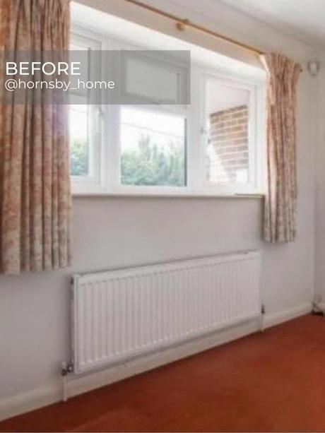 old convector radiator in a room during renovation