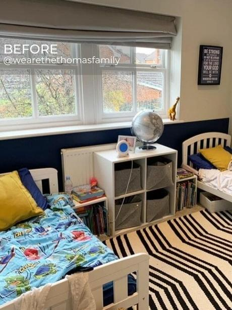 boy's bedroom before the renovation