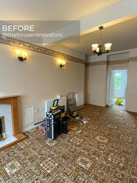 two old radiators in a living room during renovation