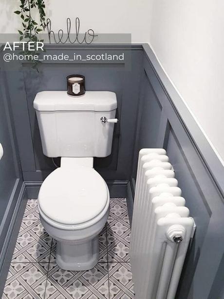 white column radiator in a period style bathroom