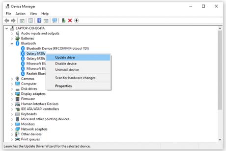 Fix Status_Device_Power_Failure Bluetooth Error on Windows 10