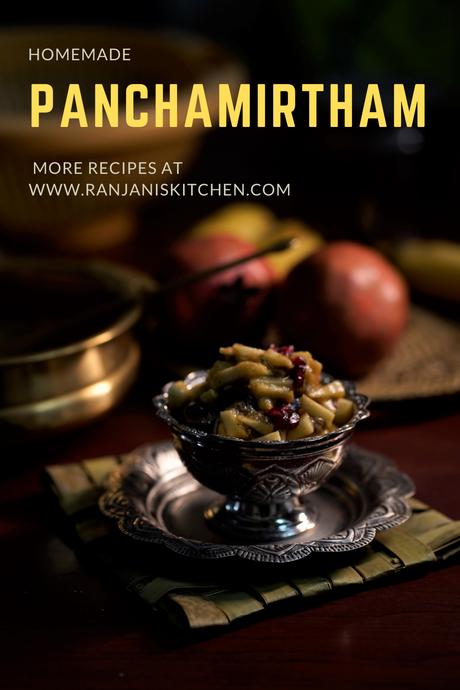 panchamirtham | panchamrut | mixed fruit panchamirtham