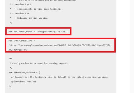 Google Ads Reporting Script