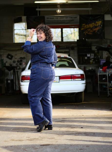 Erdem x Universal Standard Review of the Myrtle Denim Jumpsuit