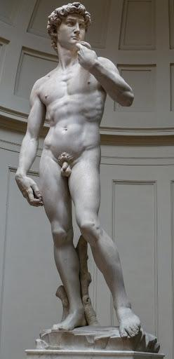 David is a masterpiece of renaissance sculpture, created in marble between 1501 and 1504 by the italian artist michelangelo. Grandes Mestres Leonardo Michelangelo E Rafael