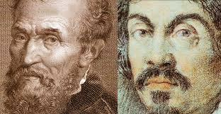 Oil and marble is the story of their nearly forgotten rivalry. I Due Michelangelo Buonarroti E Merisi Da Caravaggio