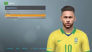 Neymar jr (psg) vs neymar jr (brazil) full match   pes 2017 gameplay pc. Pes 2017 Neymar Jr Face By Kleyton Pes Social