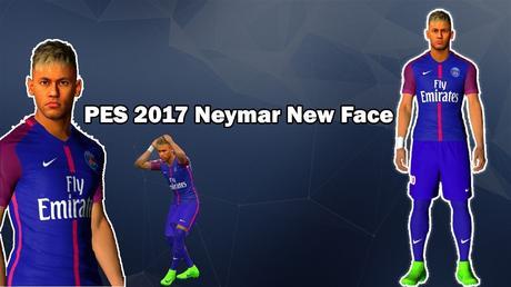Nova Face Neymar Pes 2017 Paris Saint Germain Youtube