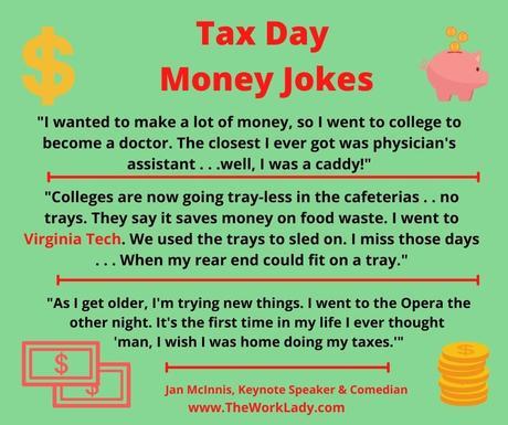 TAX DAY MONEY JOKES
