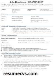 Use these examples and tips to see how you can tailor your cv for the job you are applying for. 15 Medical Student Cv Templates Example Guide Resumecvs