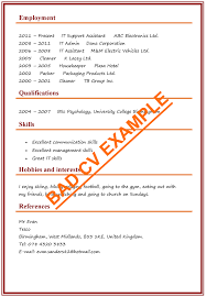We have professional cv examples from experts in your industry. Cv Examples Example Of A Good Cv Biggest Mistakes To Avoid