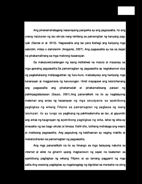 Thesis In Filipino Research Papers Academia Edu