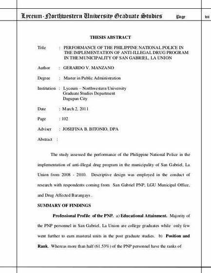 University Of The Philippines List Of Thesis Proposal