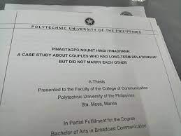 Indd 1 you can do about those changes. Thesis Topic Of Pup Manila Studs Pinagtagpo Ngunit Hindi Itinadhana