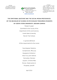 Sample thesis philippines 2019 is available for you to explore on this site. Complete Research Paper Bs Psy Studocu