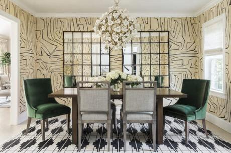 Scheming: Dining Room Drama with Kelly Wearstler's Graffito Wallpaper