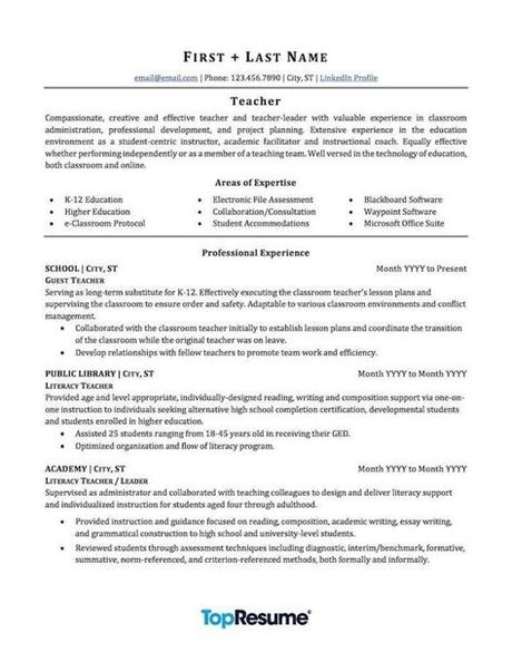 Mention your most relevant teaching experience. Teacher Resume Template | louiesportsmouth.com