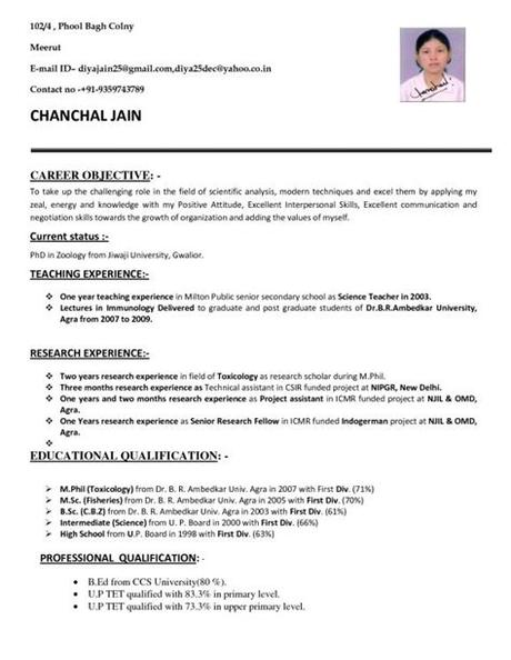 That's exactly what lots of job seekers get frustrated about when writing your first resume with no work experience. Resume Format For Msc Zoology - Resume Templates