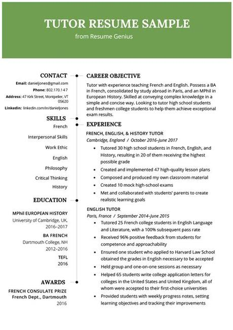 The key to knowing how to write a cv with no experience is emphasising the skills you already have. Tutoring Resume | templatescoverletters.com
