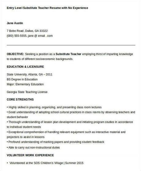 Cv (curriculum vitae) is a summary of your academic and work history. Resume Samples For Teachers With No Experience - Resume Sample