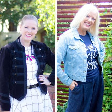 Compare outfit photos to see which is working best