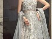 Pastel Green Large Flared Anarkali Pakistani Wedding Gown