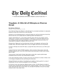 Monroe st has a wide range of food choices and shops in a friendly and welcoming climate bordering the uw campus. Doc Yirgalem A Little Bit Of Ethiopia On Monroe Street Asrat Tessema Academia Edu