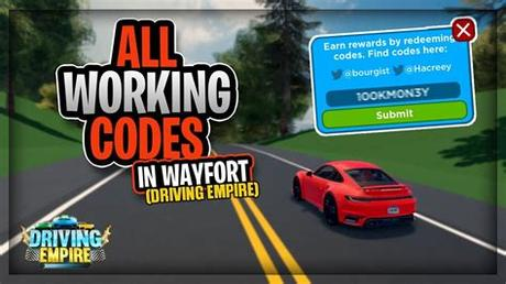 How to redeem driving empire op working codes. Codes For Driving Empire / Roblox Wayfort Codes January ...