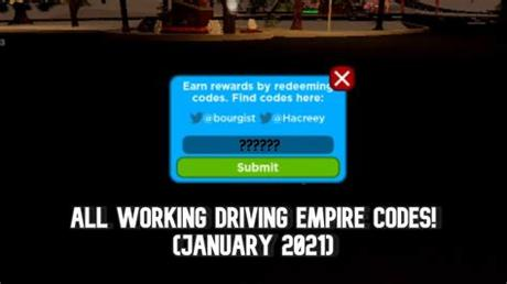 Today we will be listing valid and working codes for roblox driving empire for our fellow gamers. Driving Empire Codes 2021 - Roblox Driving Empire Codes ...