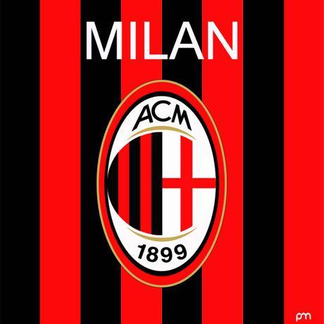 Neu entworfenes AC Mailand 2019-20 Konzeptlogo - Nur Fussball