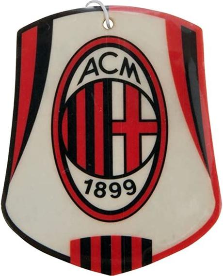 The representing colors of the club are red and black. AC Milan Auto Lufterfrischer mit Club Wappen ...