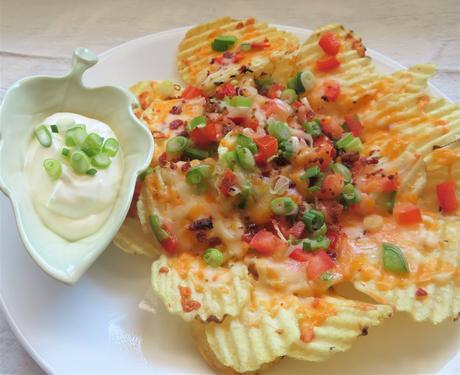 Potchos -Potato Chip Nachos