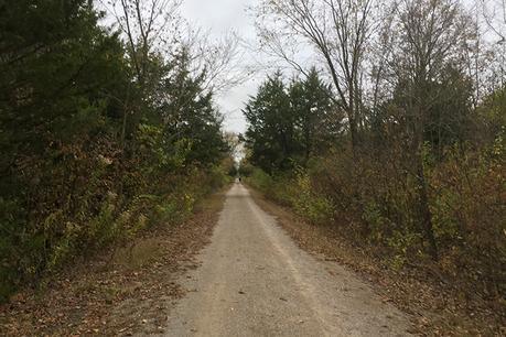 Prairie Spirit Trail course, miles 5 etc. of Kansas Rails-to-Trails Fall Ultra Extravaganza
