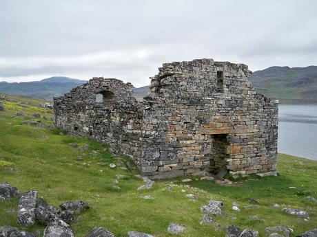 A ruined church of Vikings who traveled to Greenland.