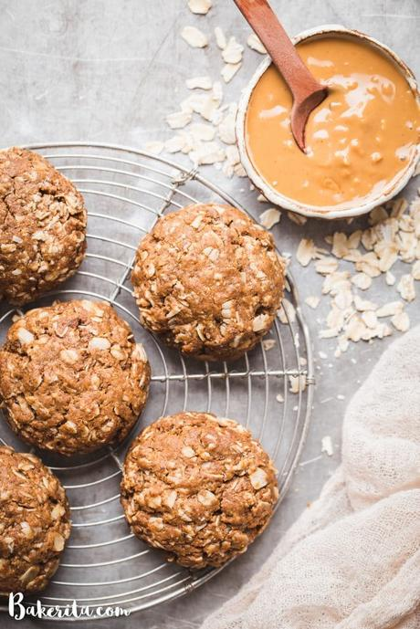 These Peanut Butter Oatmeal Cookies are incredibly soft and loaded with peanut butter flavor. They're vegan, refined sugar-free, and gluten-free. This simple recipe will become a quick favorite for any peanut butter fans.