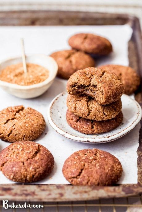These Paleo & Vegan Snickerdoodles are some of the chewiest, softest cookiesever,with tons of cinnamon and a delectably crunchy cinnamon sugar coating. You'll be making them again and again!
