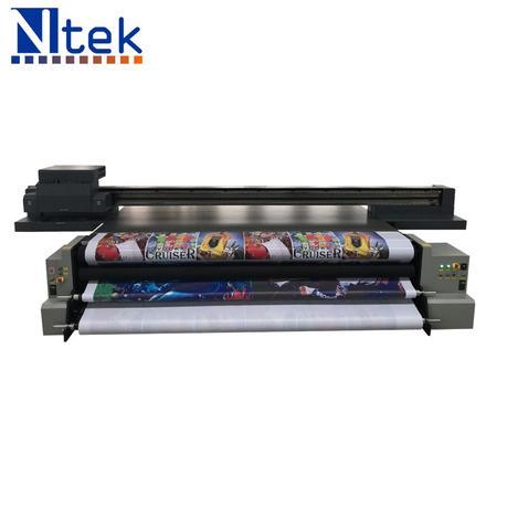 China Uv Hybrid Printer Ricoh Gen5 Ceramic Plate Printing Machine China Large Flatbed