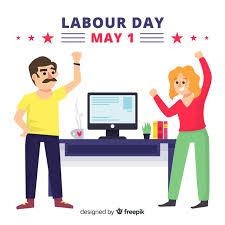 Today is the day to celebrate your hard work. Free Vector Happy Labour Day
