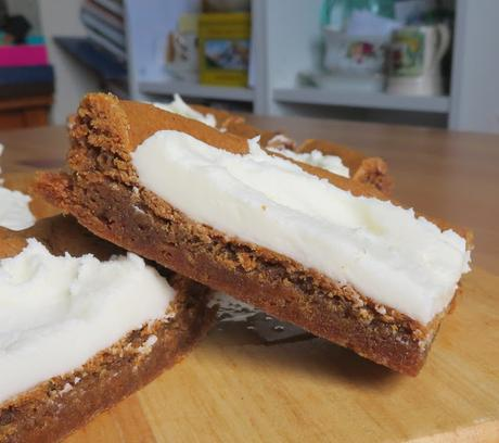 Lemon Frosted Gingerbread Cookie Bars